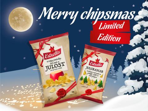 Julostchips gör comeback - nu med nyheten Julgranar!