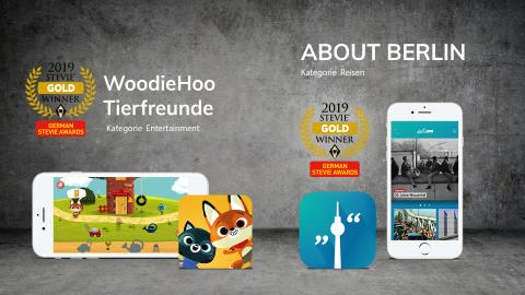 ​Appsfactory holt Doppelgold bei den German Stevie Awards 2019