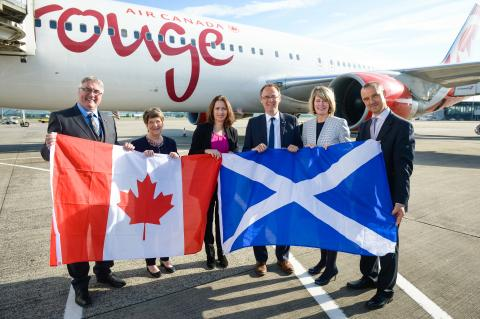 Air Canada Rouge launches Toronto to Glasgow non-stop service