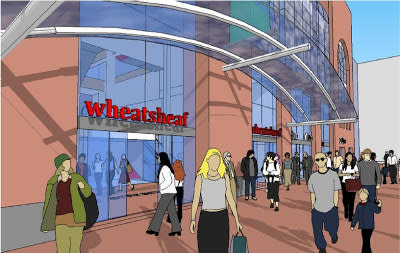 An artist's impression of the new entrance
