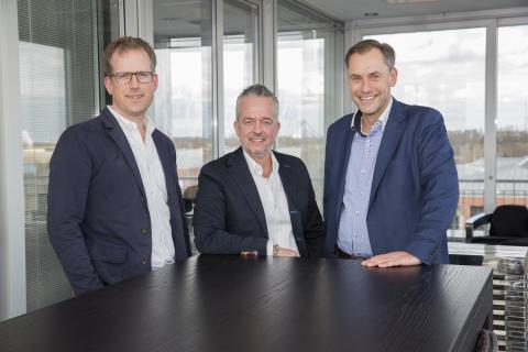 Das neue starke Trio der Fressnapf-Gruppe: v.l. Folkert Schultz, Torsten Toeller und Dr. Hans-Jörg Gidlewitz