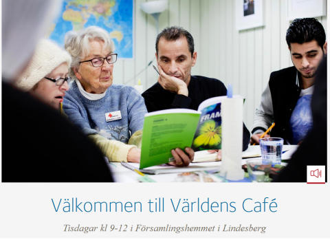 Linde bergslags församling erbjuder gratisbussar till Världens café