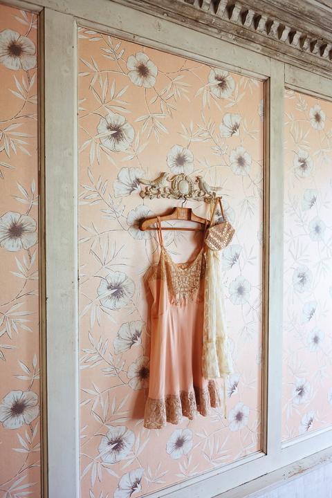 Romantisk tapet i rosa