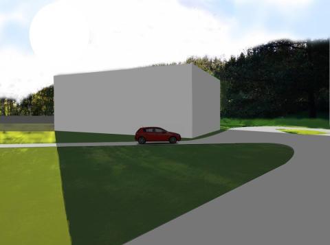 Ceremonibyggnad på samma plats (Visualisering bild 2)