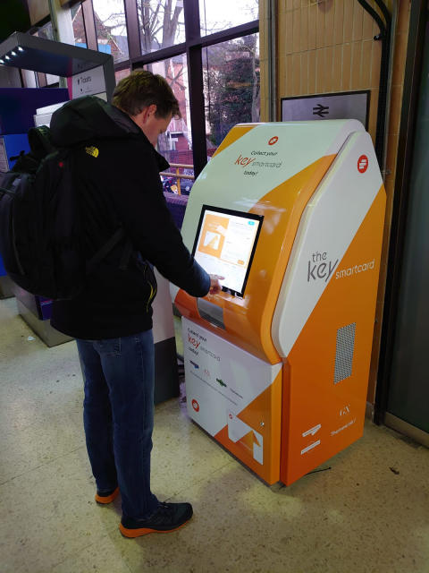 Smartcard kiosk in action