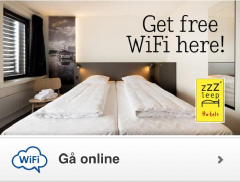 Gratis internet på Zleep Hotels