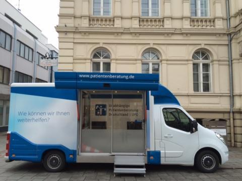 Beratungsmobil der Unabhängigen Patientenberatung kommt am 20. Mai nach Iserlohn.