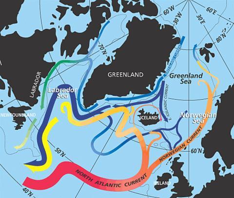 Cirkulationsmönster i Nordatlanten