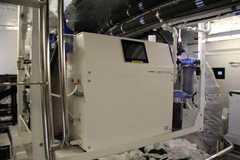 Hi-res image - Dometic - A Dometic XZ watermaker has been installed on a new Sunseeker 86 to produce ultra-pure water for spot-free cleaning of the black hull
