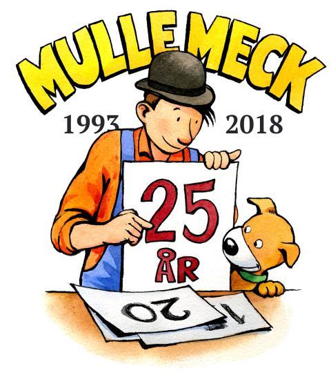 Barnboksfiguren Mulle Meck fyller 25 år