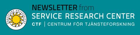 CTF Newsletter no 1, 2016, from CTF, Service Research Center at Karlstad University, Sweden
