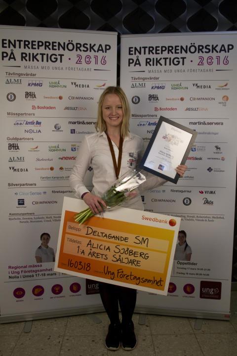 Årets Säljare 2016, Alicia Sjöberg