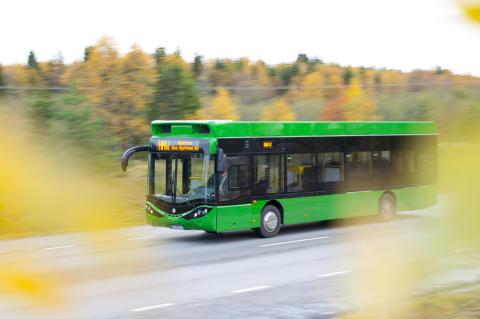 Nobina kör världsunik buss