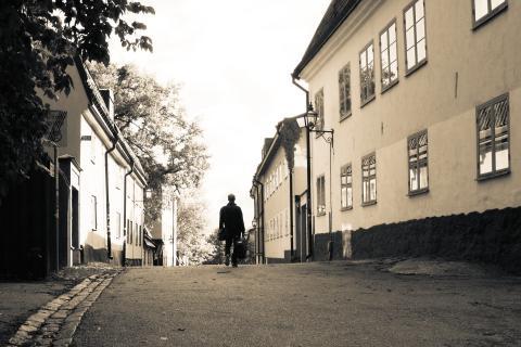 Musikern Johan Häglerud, Södermalm, Stockholm