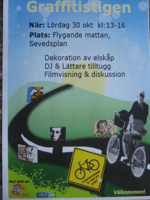 Cykelvernissage på Grafittistigen