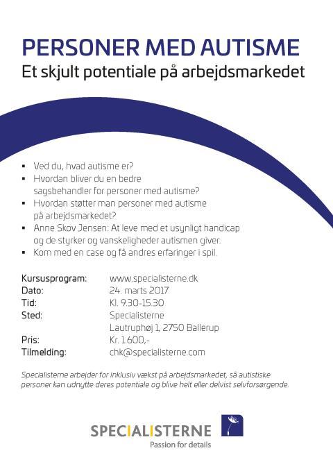 Kursus for sagsbehandlere 24. marts 2017