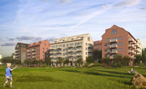 Detaljplan klar för Riksbyggens 300 bostäder i Skärholmen