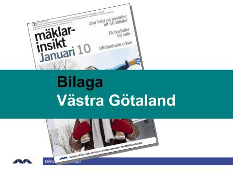 Mäklarinsikt januari 2010: Västra Götaland