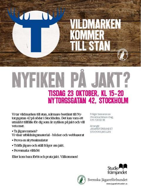 Vildmarken kommer till stan! Öppet hus 23 okt 15-20, Nytorgsgatan 14, Stockholm