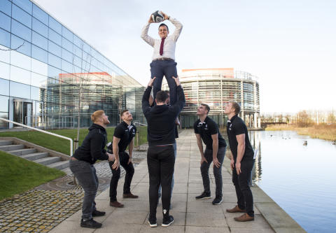 Rugby Academy players in job swap at BT