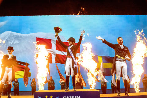 Cathrine Dufour crowned SAAB Top 10 Dressage champion in Stockholm