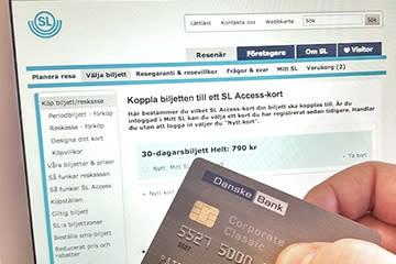 SL säljer biljetter på nätet – DIBS levererar betalningslösningen