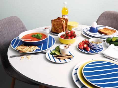 Blau-weiß = frühlingsfrisch