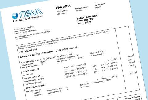 Nu kommer VA-fakturan från NSVA - även i Helsingborg