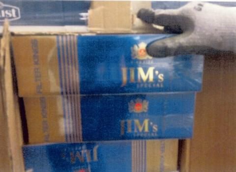 Op Fuzzy - seized cigarettes JIMs not for sale in UK usually