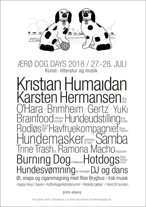 Ærø Dog Days 2018 plakat