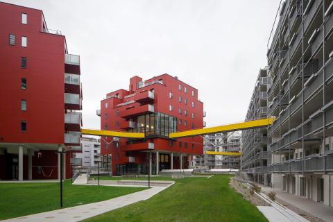 Visning. Studio Vlay, Riepl Kaufmann Bammer, Klaus Kada, Sonnwendtviertel, 2012-2014 (c)GerhardHagen