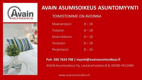 Helsingin asuntomyynnin aukioloajat
