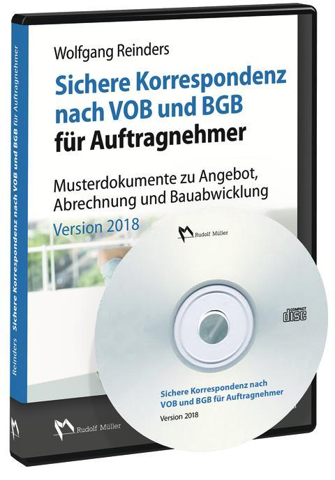 Sichere Korrespondenz nach VOB und BGB für Auftragnehmer, Version 2018 (3D/tif)