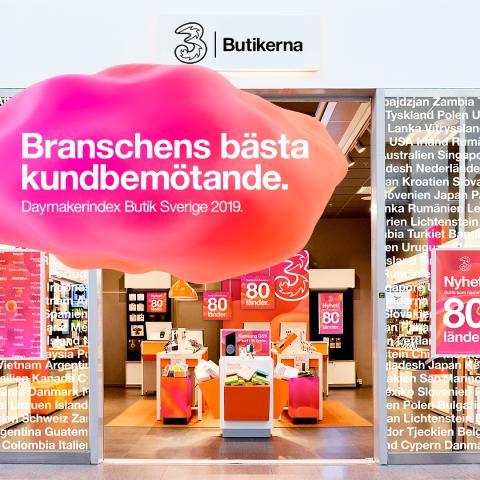 Tres butiker ger branschens bästa kundbemötande