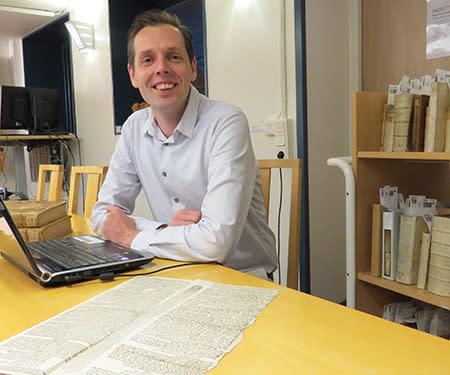 Alex Alsemgeest från De Koninklijke Bibliotheek i Haag, Holland