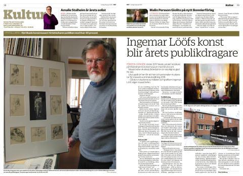 Sommarutställning med Ingemar Lööfs konst på Kristinehamns konstmuseum