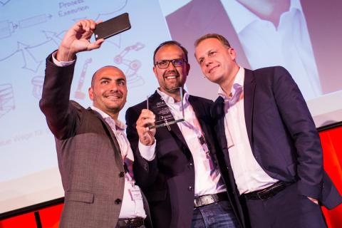 Selfie für die DEA.2016-Gewinner