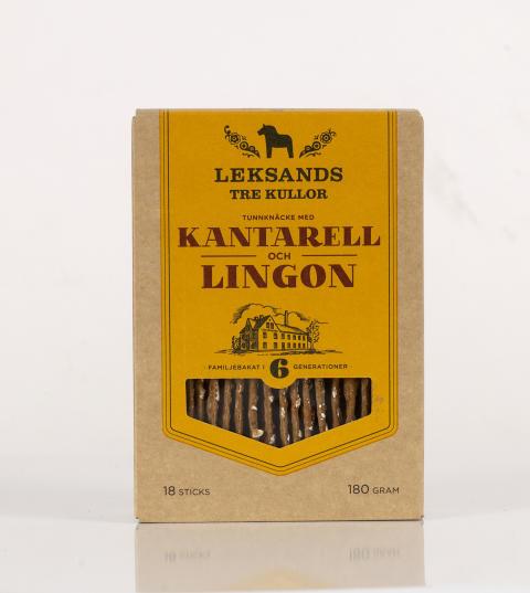 TRE KULLOR Kantarell och Lingon