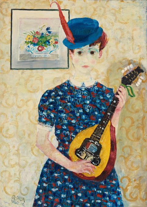 Olle Olsson- Hagalund, Flicka med mandolin