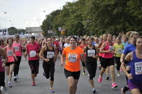26 172 löpare sprang i mål i den 31:a upplagan av Tjejmilen