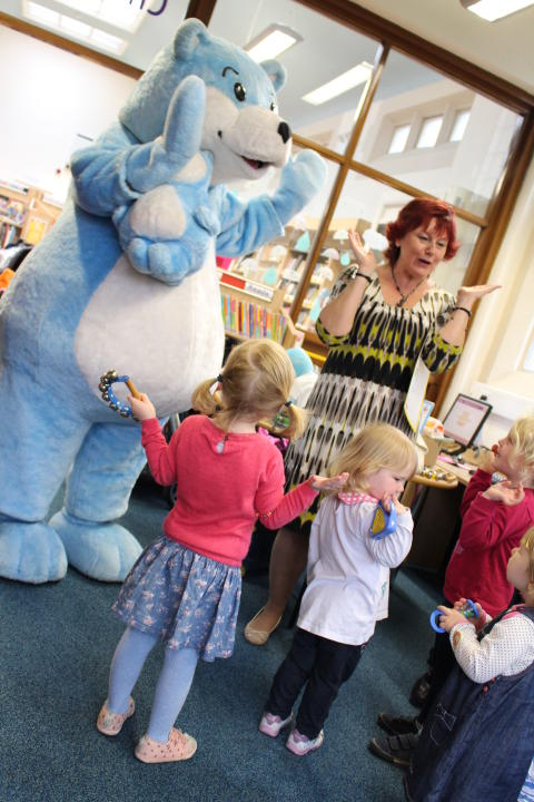 Bookstart Bear in Heywood Library