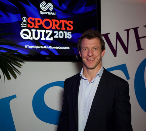 Steve Williams, double Olympic champion rower and SportsAid alumnus, at SportsAid's Sports Quiz 2015