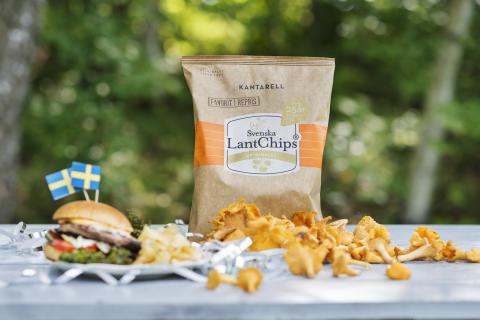 Svenska Lantchips fyller 25 år och firar med att återlansera LantChips kantarell