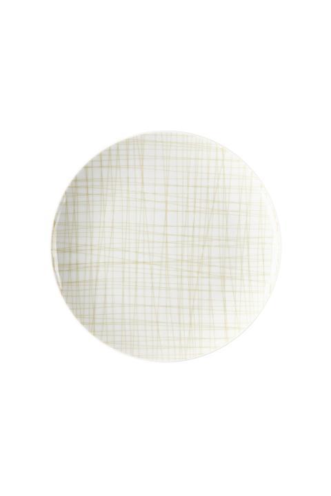 R_Mesh_Line Cream_Plate 21 cm flat