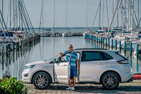 A Ford Edge márkanagykövete, Litkey Farkas egy napja a Kékszalag előtt
