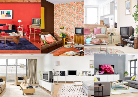 Sony 'Evolution of the Living Room' collage