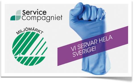 ServiceCompagniet erbjuder nu Svanenmärkta städtjänster i hela landet