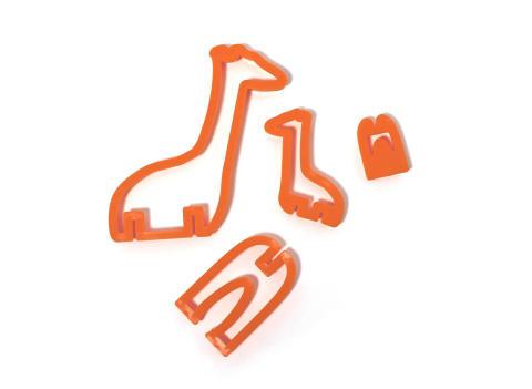 3D pepparkaksform - Giraff formen