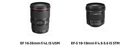 Gå i bredden med Canons to nye ultravidvinkel zoomobjektiver