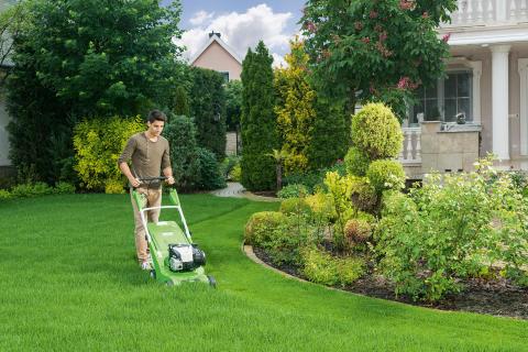 Bekväm och effektiv gräsklippare